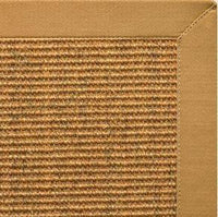 Cognac Sisal Rug with Butter Rum Cotton Border - Free Shipping