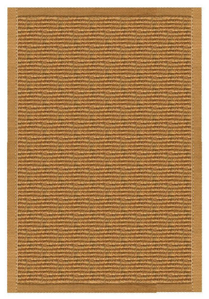 Area Rugs - Sustainable Lifestyles Cognac Sisal Rug With Butter Rum Cotton Border