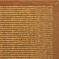 Cognac Sisal Rug with Caramel Cotton Border - Free Shipping