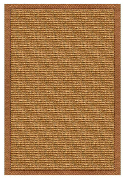Area Rugs - Sustainable Lifestyles Cognac Sisal Rug With Caramel Cotton Border