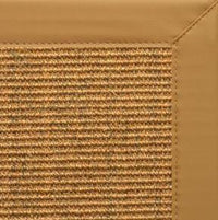 Cognac Sisal Rug with Chamois Faux Leather Border - Free Shipping