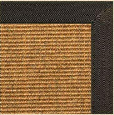 Area Rugs - Sustainable Lifestyles Cognac Sisal Rug With Chocolate Canvas Border