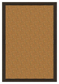 Area Rugs - Sustainable Lifestyles Cognac Sisal Rug With Chocolate Cotton Border