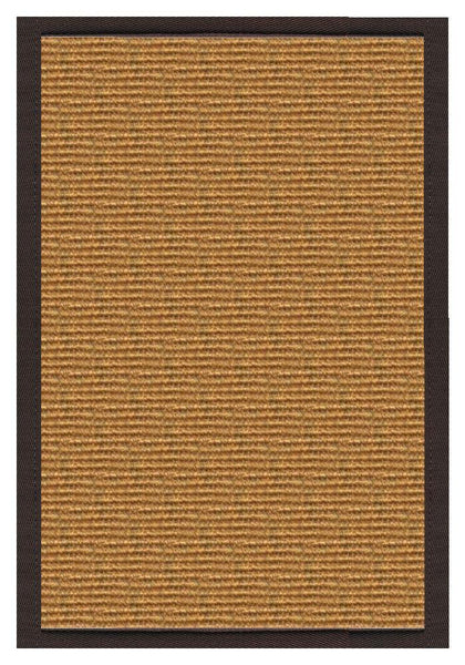 Area Rugs - Sustainable Lifestyles Cognac Sisal Rug With Cocoa Bean Cotton Border
