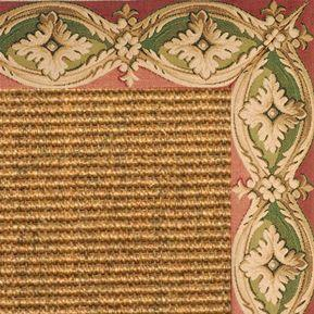 Cognac Sisal Rug with della tapestry Border - Free Shipping