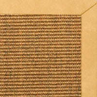 Cognac Sisal Rug with Gold Faux Leather Border - Free Shipping