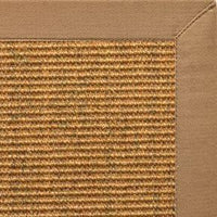 Cognac Sisal Rug with Granola Cotton Border - Free Shipping
