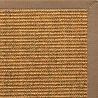 Cognac Sisal Rug with Harvest Haze Cotton Border - Free Shipping