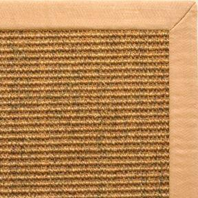 Cognac Sisal Rug with Honey Linen Border - Free Shipping