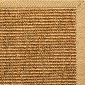 Cognac Sisal Rug with Honeycomb Cotton Border - Free Shipping