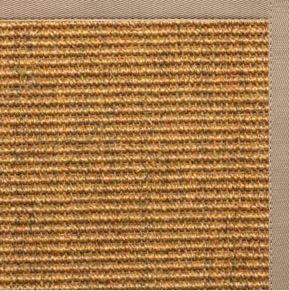 Cognac Sisal Rug with Ivory Blush Cotton Border - Free Shipping