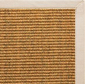 Cognac Sisal Rug with Ivory Cotton Border - Free Shipping