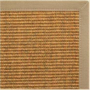 Cognac Sisal Rug with Khaki Canvas Border - Free Shipping