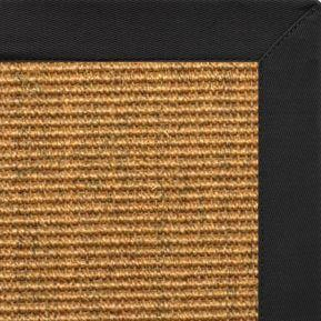 Cognac Sisal Rug with Lava Cotton Border - Free Shipping