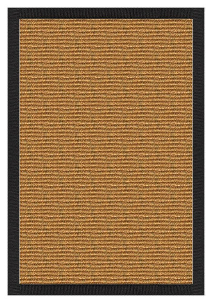 Area Rugs - Sustainable Lifestyles Cognac Sisal Rug With Lava Cotton Border