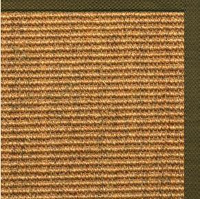 Area Rugs - Sustainable Lifestyles Cognac Sisal Rug With Lichen Cotton Border