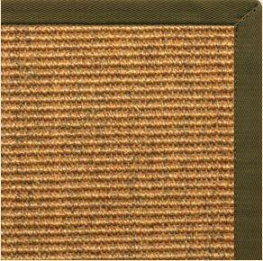 Cognac Sisal Rug with Lichen Cotton Border - Free Shipping