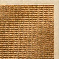Cognac Sisal Rug with Magnolia Cotton Border - Free Shipping