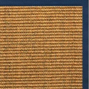 Cognac Sisal Rug with Marina Cotton Border - Free Shipping
