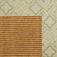 Cognac Sisal Rug with Medallions tapestry Border - Free Shipping