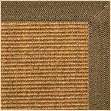 Cognac Sisal Rug with Mocha Brown Canvas Border