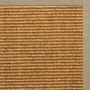 Cognac Sisal Rug with Moon Rock Gray Cotton Border