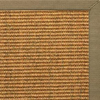 Cognac Sisal Rug with Oat Straw Cotton Border - Free Shipping