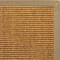 Cognac Sisal Rug with Pale Ash Cotton Border - Free Shipping