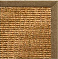 Cognac Sisal Rug with Pecan Brown Canvas Border - Free Shipping