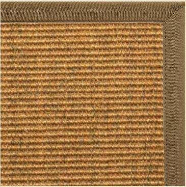 Cognac Sisal Rug with Pecan Brown Canvas Border