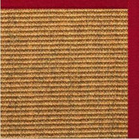 Cognac Sisal Rug with Poppy Cotton Border - Free Shipping