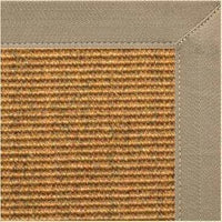 Cognac Sisal Rug with Putty Canvas Border - Free Shipping