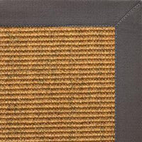Cognac Sisal Rug with Quarry Cotton Border - Free Shipping