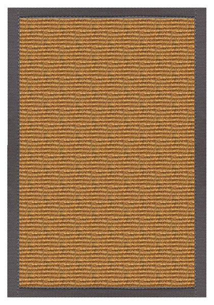 Area Rugs - Sustainable Lifestyles Cognac Sisal Rug With Quarry Cotton Border