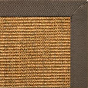 Cognac Sisal Rug with Rye Cotton Border - Free Shipping