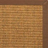 Cognac Sisal Rug with Sahara Cotton Border - Free Shipping