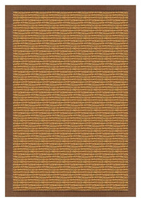 Area Rugs - Sustainable Lifestyles Cognac Sisal Rug With Sahara Cotton Border