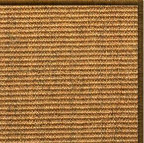 Cognac Sisal Rug with Serged Border (Color 1048) - Free Shipping