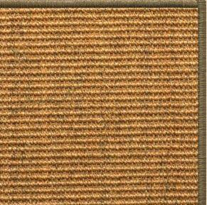 Cognac Sisal Rug with Serged Border (Color 10639) - Free Shipping