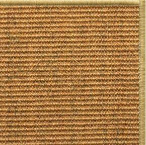 Cognac Sisal Rug with Serged Border (Color 10816) - Free Shipping
