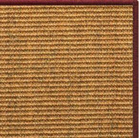 Cognac Sisal Rug with Serged Border (Color 11989) - Free Shipping