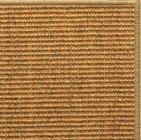 Cognac Sisal Rug with Serged Border (Color 200) - Free Shipping