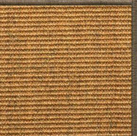 Cognac Sisal Rug with Serged Border (Color 29024) - Free Shipping