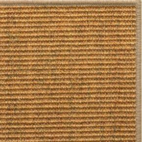 Cognac Sisal Rug with Serged Border (Color 29315) - Free Shipping