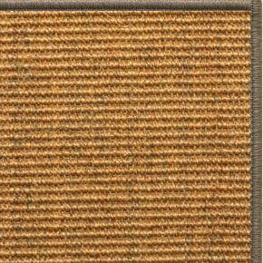 Cognac Sisal Rug with Serged Border (Color 29979) - Free Shipping