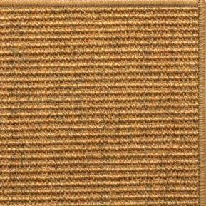 Cognac Sisal Rug with Serged Border (Color 29980) - Free Shipping