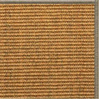 Cognac Sisal Rug with Serged Border (Color 30008) - Free Shipping