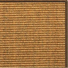 Cognac Sisal Rug with Serged Border (Color 3295) - Free Shipping