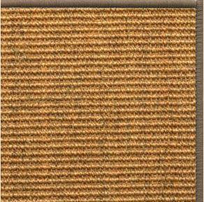 Cognac Sisal Rug with Serged Border (Color 518) - Free Shipping