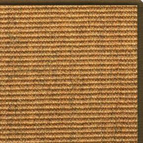 Cognac Sisal Rug with Serged Border (Color 522) - Free Shipping